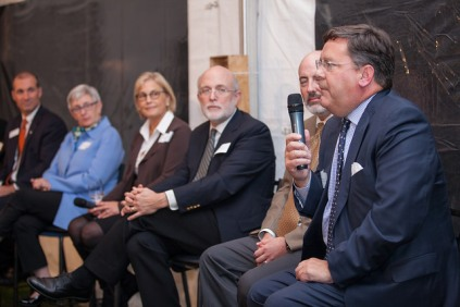 School leaders speaking at Steppingstone's first-ever Leaders in Education Reception