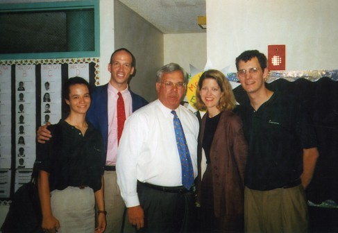Mayor Menino with TSF founder Mike Danziger, current President Kelly Glew, and staff