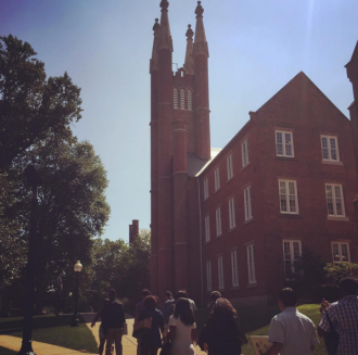 Scholars traveled more than 500 miles during our 2015 overnight college tour. Here they are at Franklin & Marshall College.