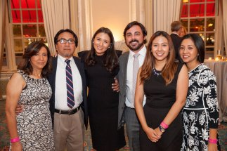 Keynote speaker Megumi Milla '06 and her family.