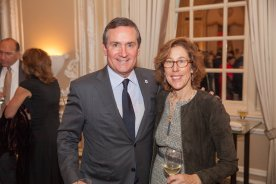Steppingstone Board Chair Brian Conway and his wife, Karen.