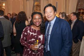 Mariel Novas '00, a Steppingstone Board Member, with chef (and fellow Yale graduate) Ming Tsai