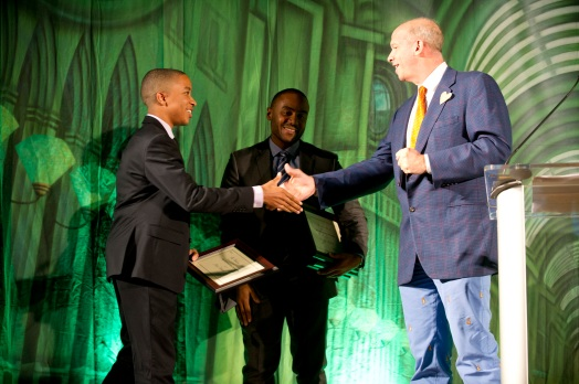 2014 - Mike congratulates Scholars