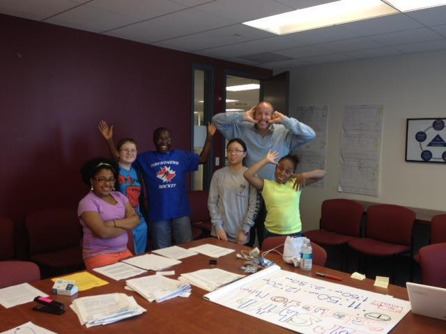 2012 – Mike drops by the office to visit Scholars and make sure everyone's having a good time